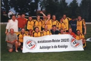 Kreisklassenmeister 2003 Kreisliga-Aufstieg